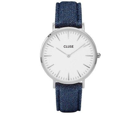 Cluse La Bohème Silver White/Blue Denim CL18229