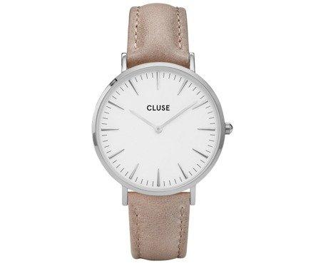 Zegarek damski Cluse La Bohème Silver White/Hazelnut CL18234