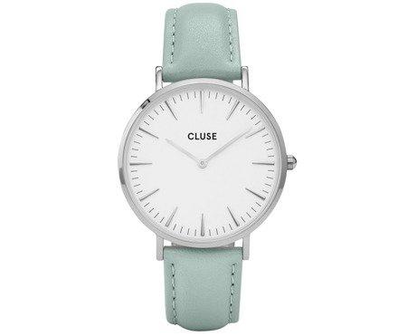 Zegarek damski Cluse La Bohème Silver White/Pastel Mint CL18225
