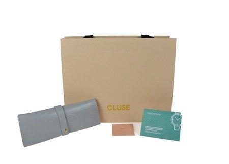 Zegarek damski Cluse La Tetragone Mesh White Gold CL60002