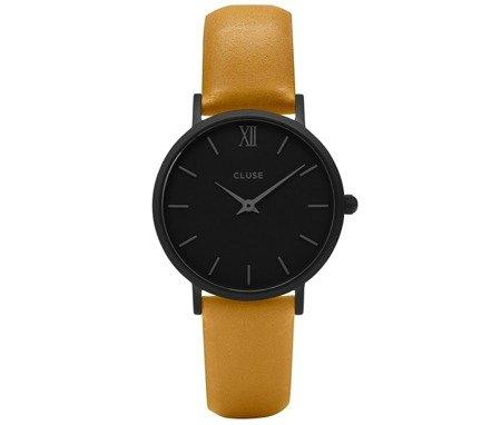 Zegarek damski Cluse Minuit Full Black/Mustard CL30033