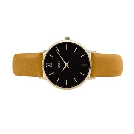 Cluse Minuit Gold Black/Mustard CL30035