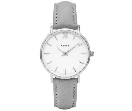 Zegarek damski Cluse Minuit Silver White/Grey CL30006