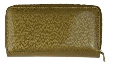 Portfel damski Peterson Skórzany lakierowany Gold 603