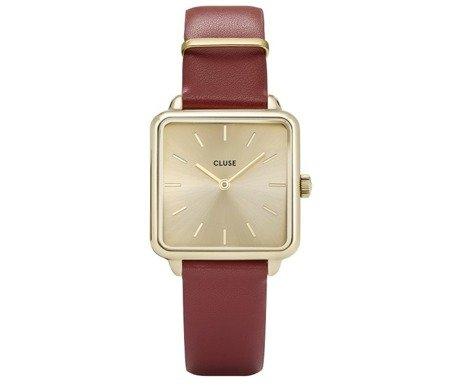 Zegarek damski Cluse La Tetragone Gold Scarlet Red CL60009