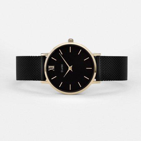 Zegarek damski Cluse Minuit Gold Black/Black CL30026